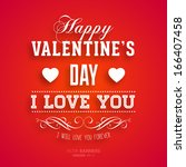 happy valentines day card... | Shutterstock .eps vector #166407458