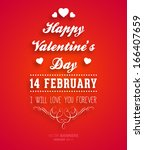 happy valentines day card... | Shutterstock .eps vector #166407659