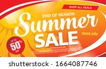 summer sale banner layout... | Shutterstock .eps vector #1664087746