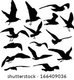 Vector Set Of Silhouettes Of 1...