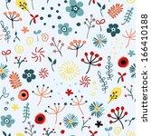 cute seamless floral pattern...   Shutterstock .eps vector #166410188