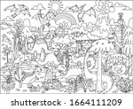 Coloring Page Poster Dinosaur...