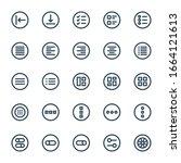 ui ux   outline icons set.