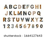 collage style alphabet letters...   Shutterstock .eps vector #1664127643