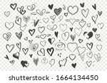 Doodle Hearts Set. Collection...