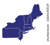 high quality map of northeast... | Shutterstock .eps vector #1664140519