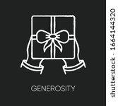 Generosity Chalk White Icon On...