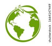 green earth  green leaf art....   Shutterstock .eps vector #1664147449