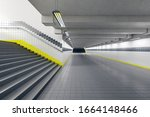 Clean Subway Station With Blan...