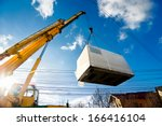 industrial crane operating and... | Shutterstock . vector #166416104