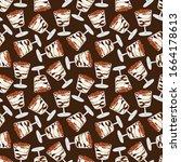 seamless pattern with tiramisu... | Shutterstock .eps vector #1664178613