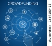 crowdfunding concept  blue...