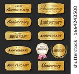 collection of anniversary... | Shutterstock . vector #1664243500