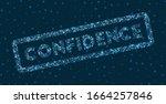 confidence word in digital... | Shutterstock .eps vector #1664257846