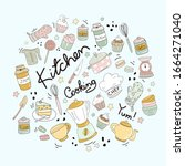 design elements of kitchen...   Shutterstock .eps vector #1664271040