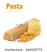 pasta  isolated on white | Shutterstock . vector #166428773