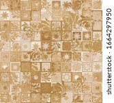 seamless pattern. paint... | Shutterstock .eps vector #1664297950