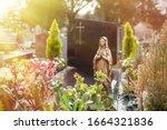 Virgin Mary At Cemetery ...