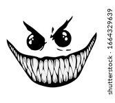 evil smile on white background   Shutterstock .eps vector #1664329639