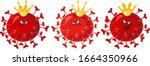 coronavirus illustration  three ... | Shutterstock .eps vector #1664350966