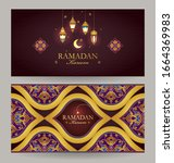 vector ramadan kareem card.... | Shutterstock .eps vector #1664369983
