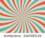 sunlight retro horizontal... | Shutterstock .eps vector #1664385136