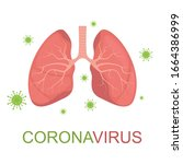 coronavirus causing pneumonia... | Shutterstock .eps vector #1664386999