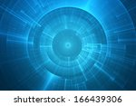 abstract circular science... | Shutterstock . vector #166439306