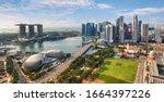 Aerial View Of Singapore City...