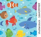 seamless background stylized... | Shutterstock .eps vector #1664399989