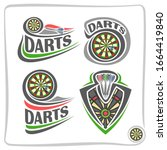 Set Of Icons For Darts Game ...