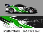 car wrap design. unique paint... | Shutterstock .eps vector #1664421460