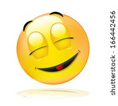 one smiley dreaming | Shutterstock . vector #166442456