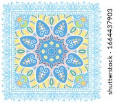 decorative colorful ornament on ... | Shutterstock .eps vector #1664437903