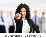 Businesswoman Pointing Her...
