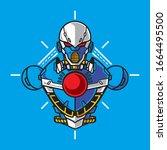 vector illustration  robotic...   Shutterstock .eps vector #1664495500