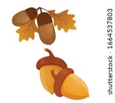 Acorn Flat Icon  Nut And Food ...