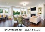 beautiful living room in new...   Shutterstock . vector #166454138