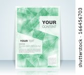 abstract flyer or cover design  ... | Shutterstock .eps vector #166456703