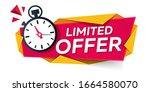 limited offer. modern banner... | Shutterstock .eps vector #1664580070