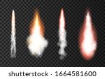 flame and smoke from space... | Shutterstock .eps vector #1664581600