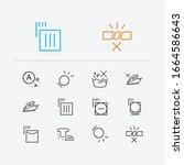 textile icons set. do not wash...