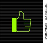 thumb up icon in trendy flat...