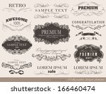 calligraphic design elements... | Shutterstock .eps vector #166460474