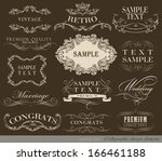 calligraphic design elements... | Shutterstock .eps vector #166461188