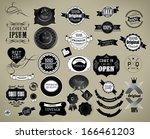 vector set  label  frame ... | Shutterstock .eps vector #166461203