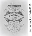 calligraphic design elements | Shutterstock .eps vector #166461218