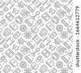 movie related seamless pattern... | Shutterstock .eps vector #1664612779
