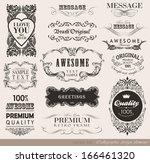 calligraphic design elements... | Shutterstock .eps vector #166461320