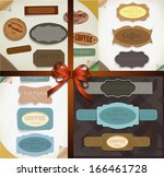 set of vector retro ribbons  ... | Shutterstock .eps vector #166461728
